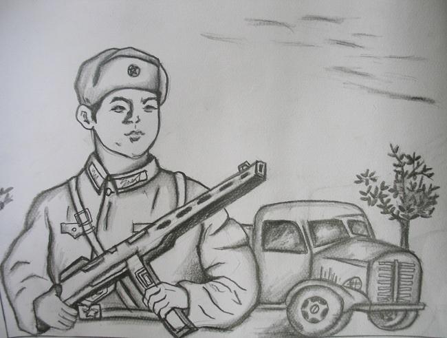 学雷锋的故事的手绘画